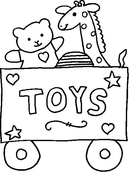 412x551 Toys Coloring Pages With Christmas Toy