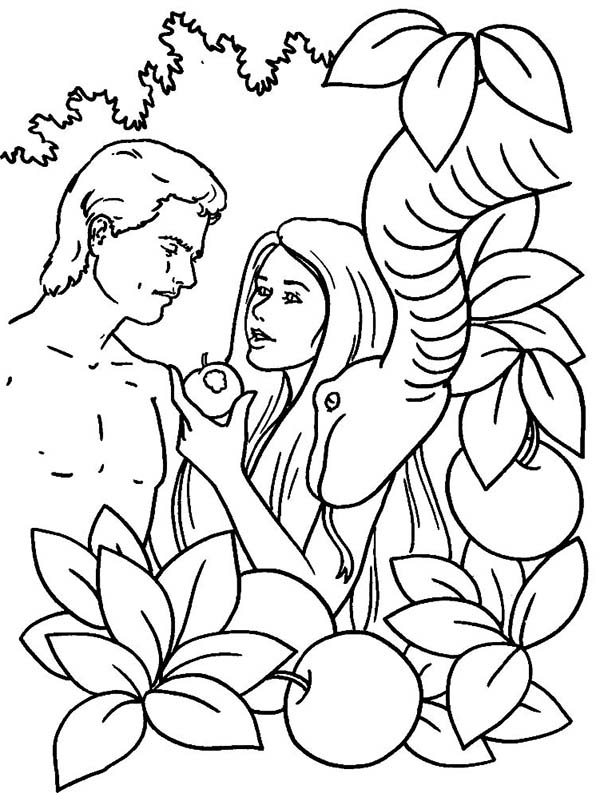 600x793 Adam And Eve Coloring Pages