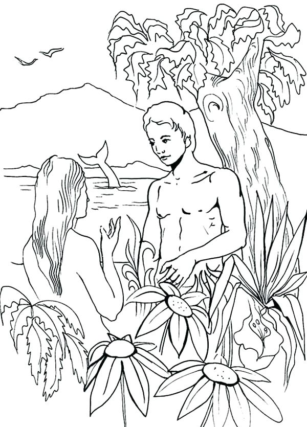 600x835 Adam And Eve Coloring Pages And Eve Coloring Page Also Eve