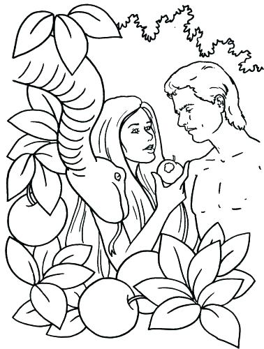 378x500 Adam And Eve Coloring Pages And Eve Coloring Pages Medium Size