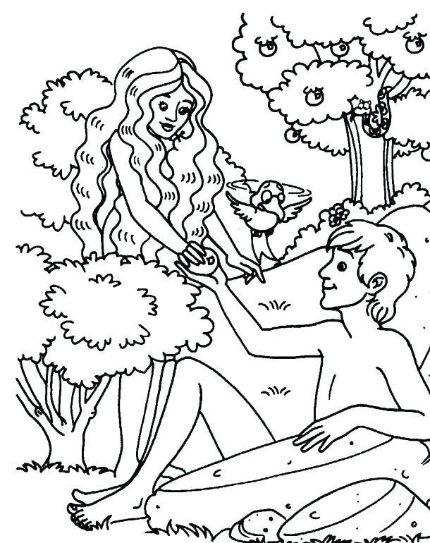 610x770 Adam And Eve Coloring Pages Images Free And Eve Coloring Sheet