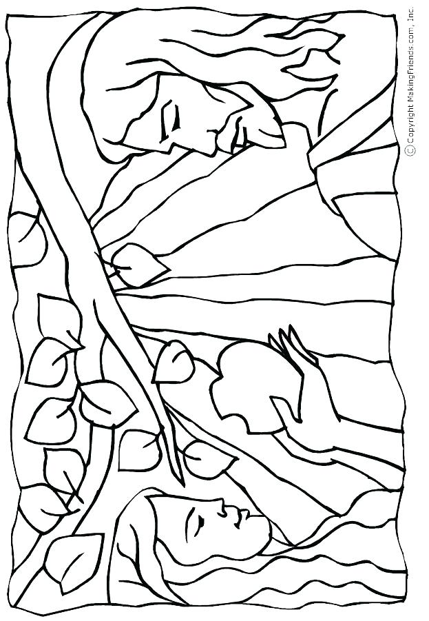 623x901 Adam And Eve Colouring Page And Eve Coloring Pages Kids Coloring
