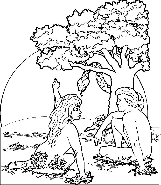 667x770 Adam And Eve In The Garden Of Eden Coloring Pages Best Images