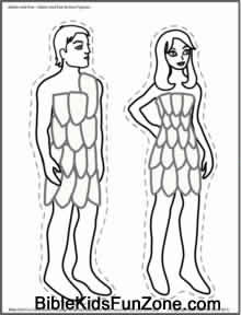 220x288 Adam And Eve In The Garden Of Eden Crafts, Coloring Pages And Play