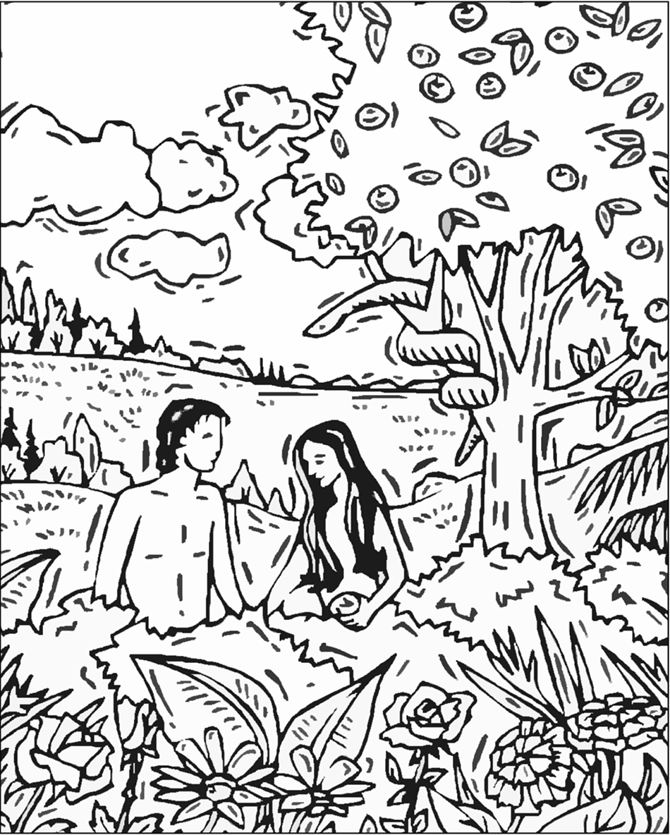 950x1184 Free Printable Adam And Eve Coloring Pages For Kids