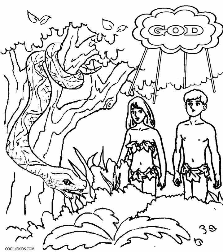 720x814 Printable Adam And Eve Coloring Pages For Kids