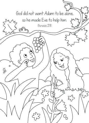 363x500 Adam And Eve Colouring Sheets Icontent