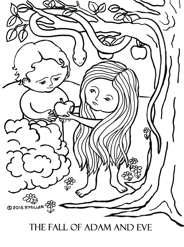 764x1024 Adam And Eve Printable Coloring Pages Technolife Site
