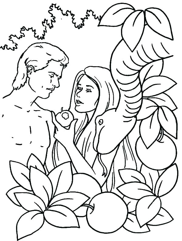 600x793 Adam And Eve Coloring Pages And Eve Coloring Page Leaving