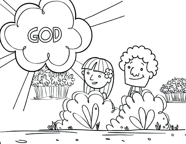 600x463 Adam And Eve Coloring Pages For Kids And Eve Coloring Pages