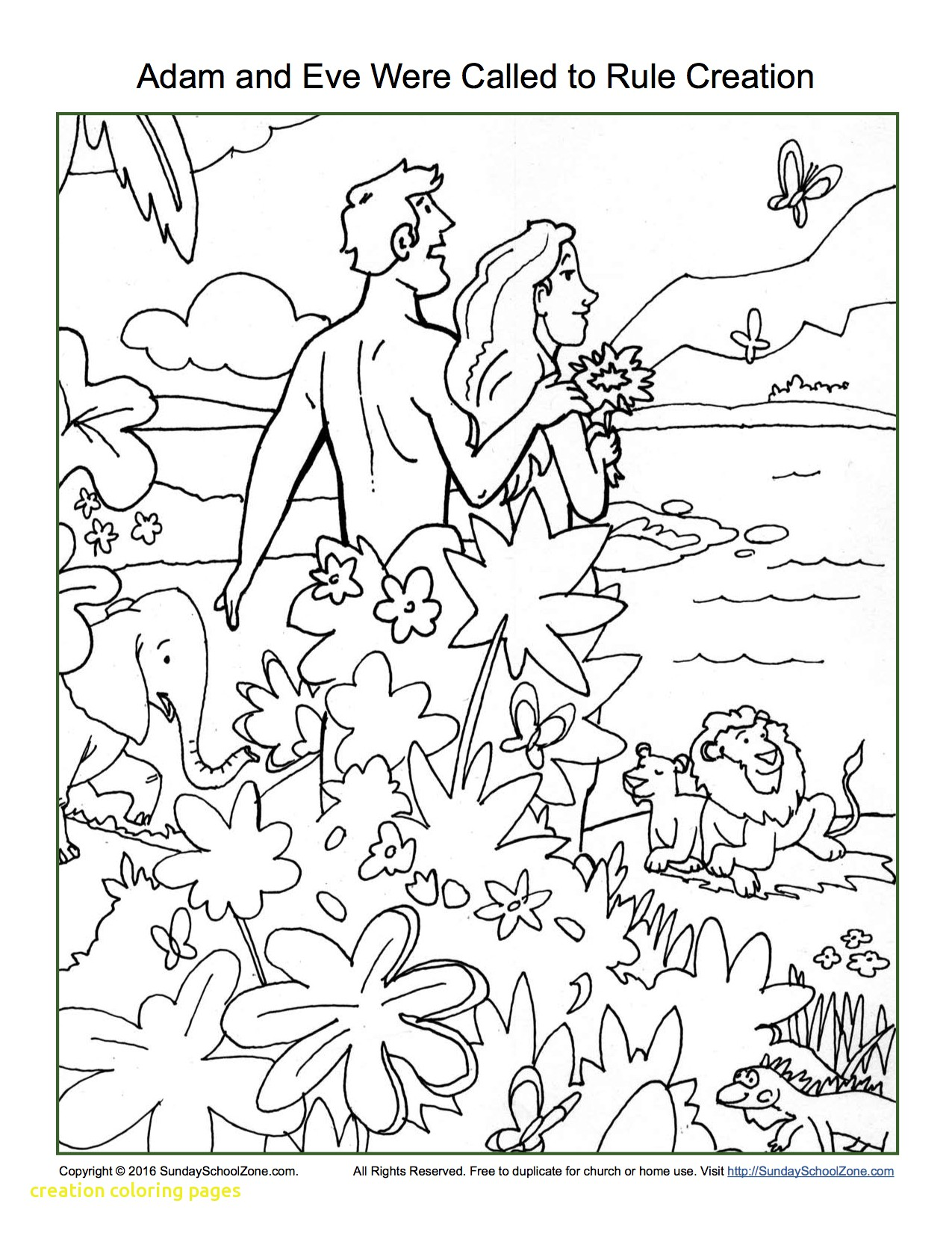 1275x1650 Creation Coloring Pages With Adam And Eve Were Called To Rule
