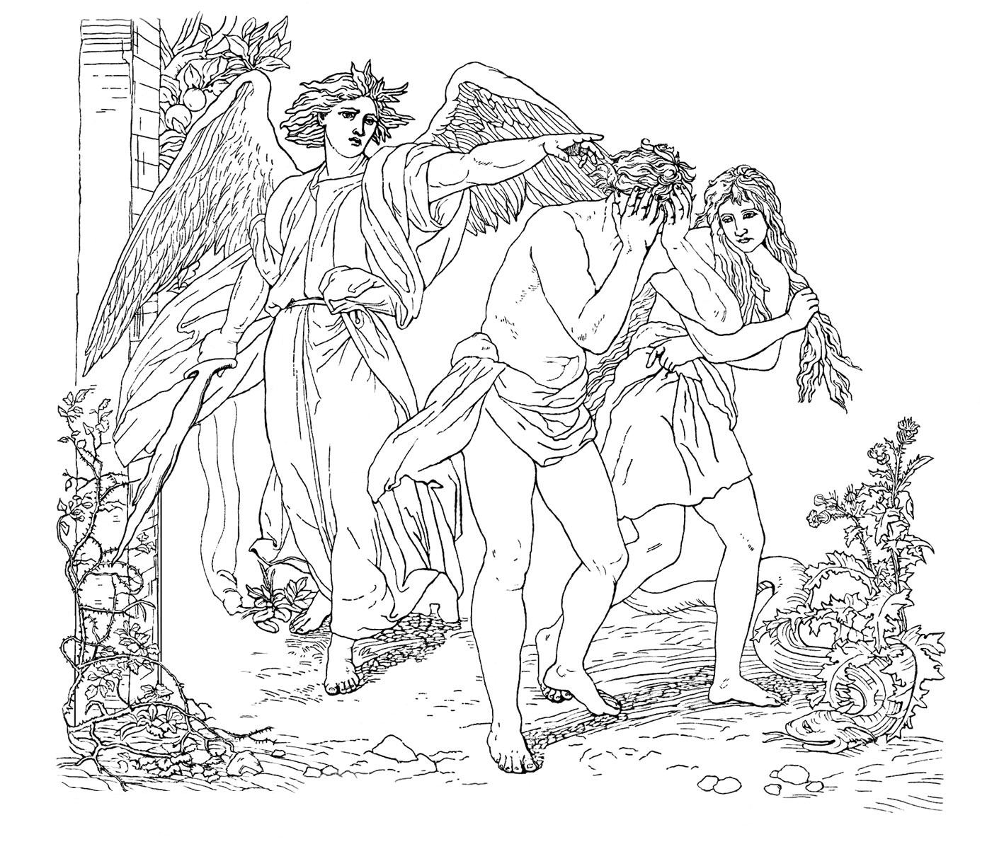 1394x1200 Free Printable Adam And Eve Coloring Pages For Kids