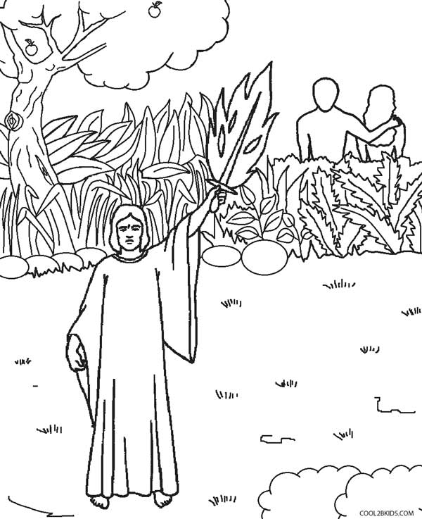 600x737 Printable Adam And Eve Coloring Pages For Kids