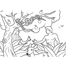 230x230 Top Freeprintable Adam And Eve Coloring Pages Online