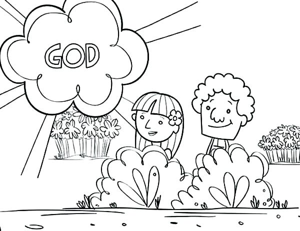 600x463 Adam And Eve Colouring Sheets Icontent
