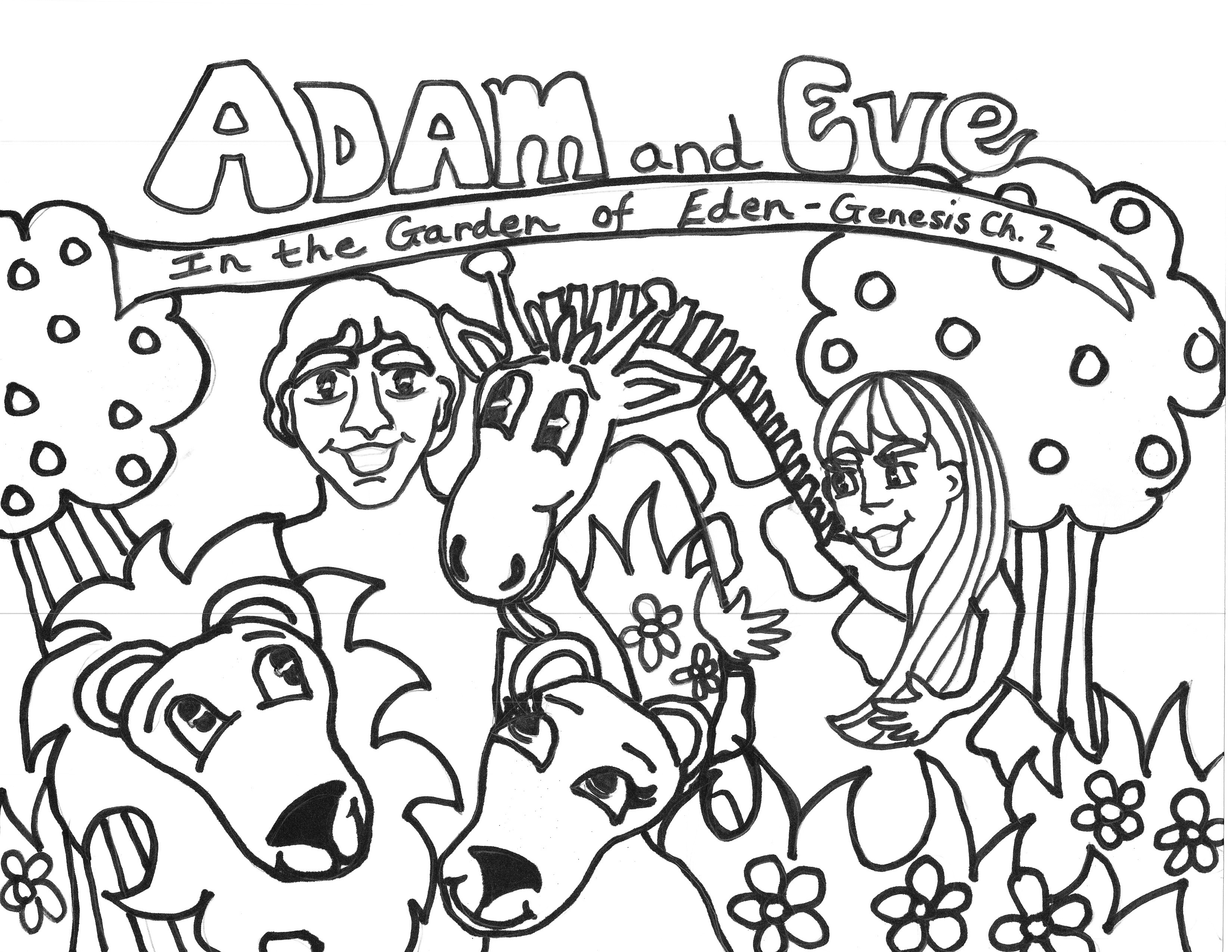 3300x2550 Free Printable Adam And Eve Coloring Pages For Kids Best Coloring