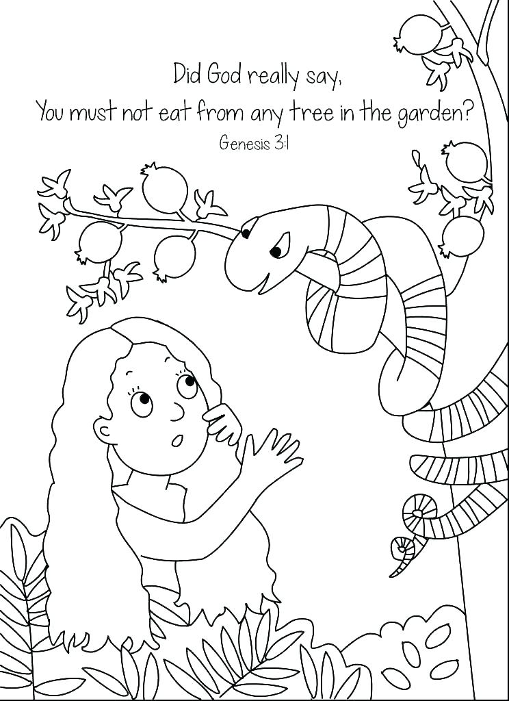744x1024 Adam And Eve Colouring Page And Eve Coloring Page And Eve Coloring