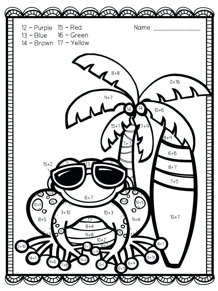 720x960 Addition Coloring Pages Printable Coloring Page For Kindergarten