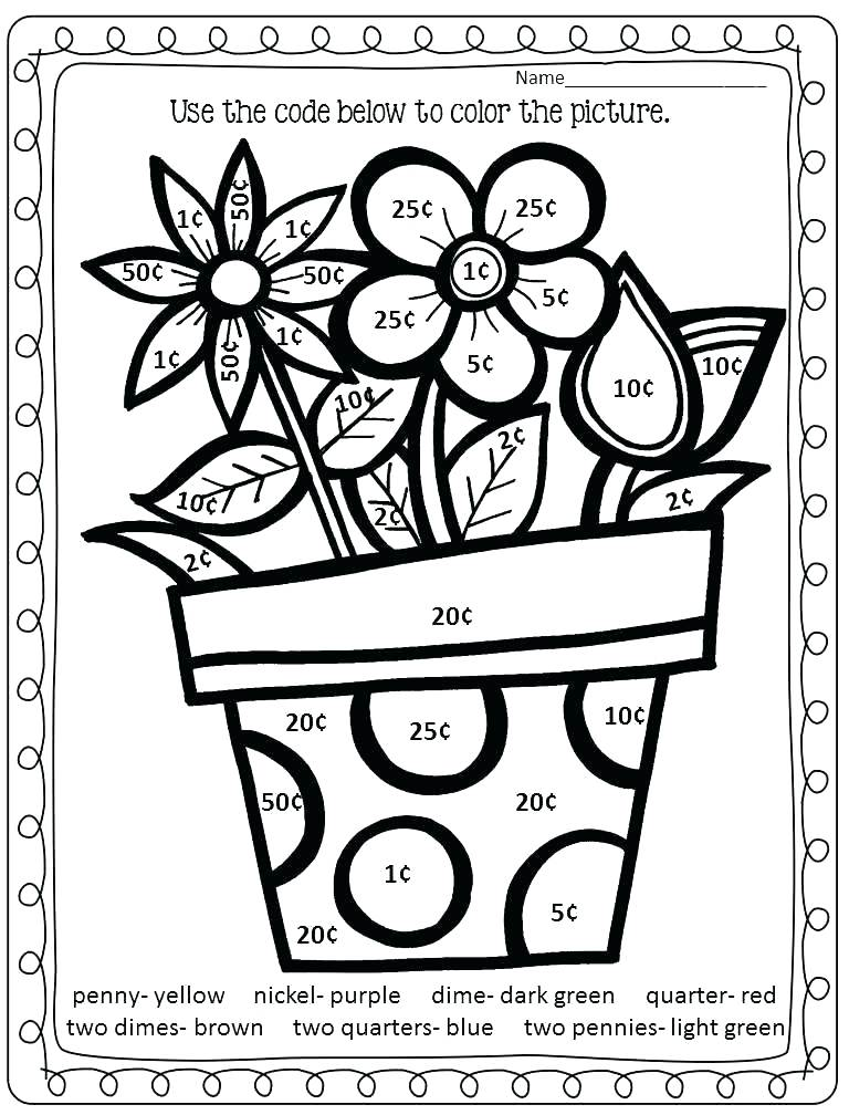 768x1008 Marvelous Decoration Addition Coloring Page Grade Addition
