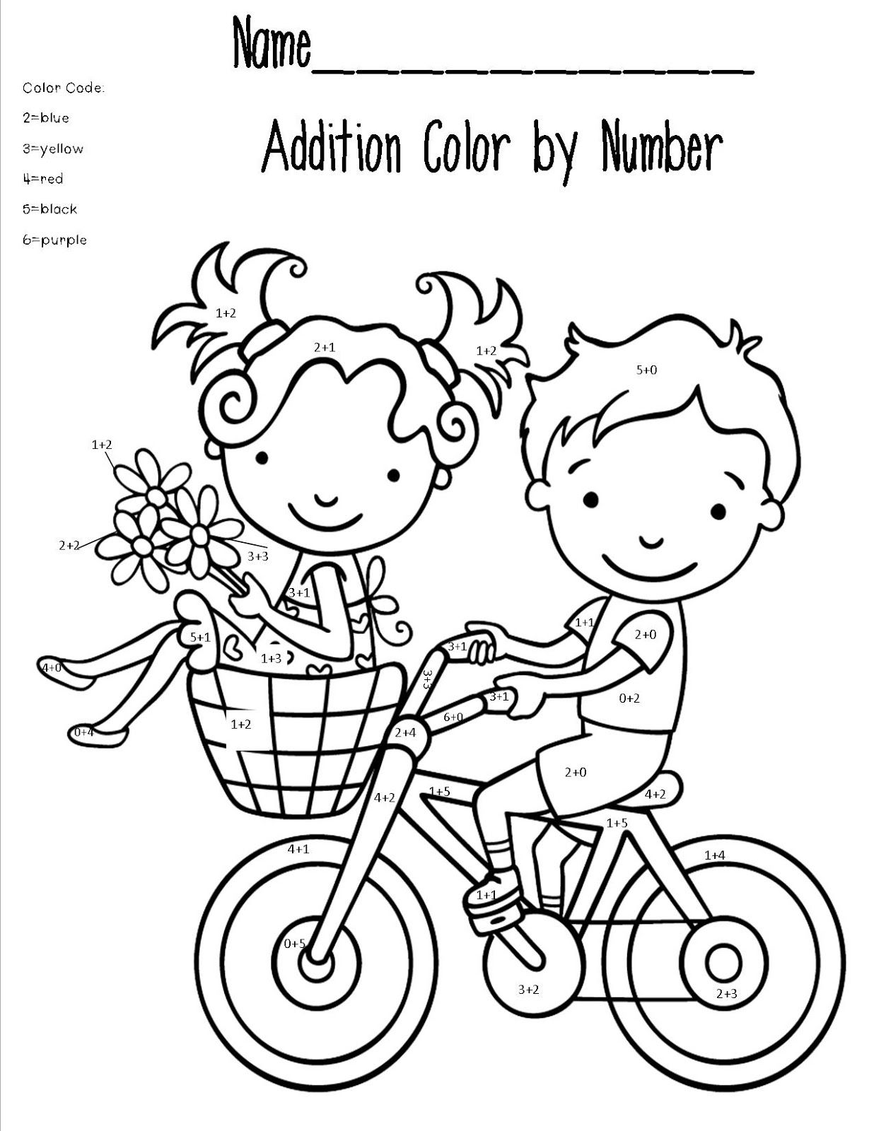 1236x1600 Addition Coloring Pages