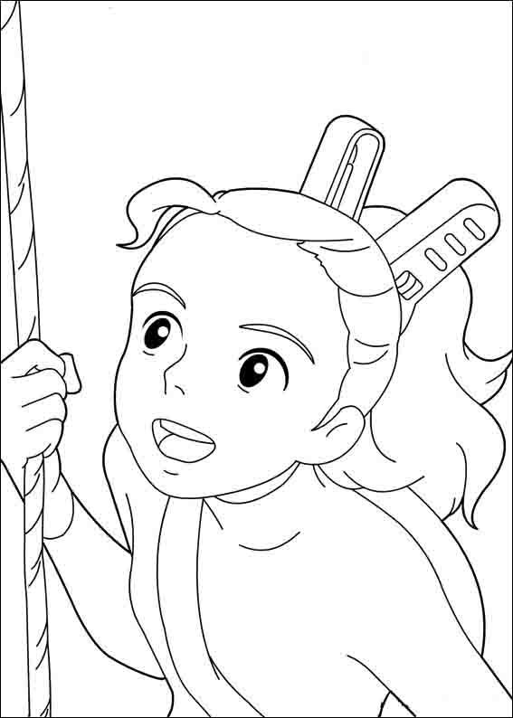 567x794 Arrietty Coloring Pages Embroiderycrosstitch
