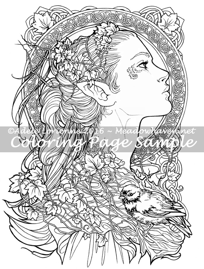 700x921 Art Of Meadowhaven Coloring Page Elvish
