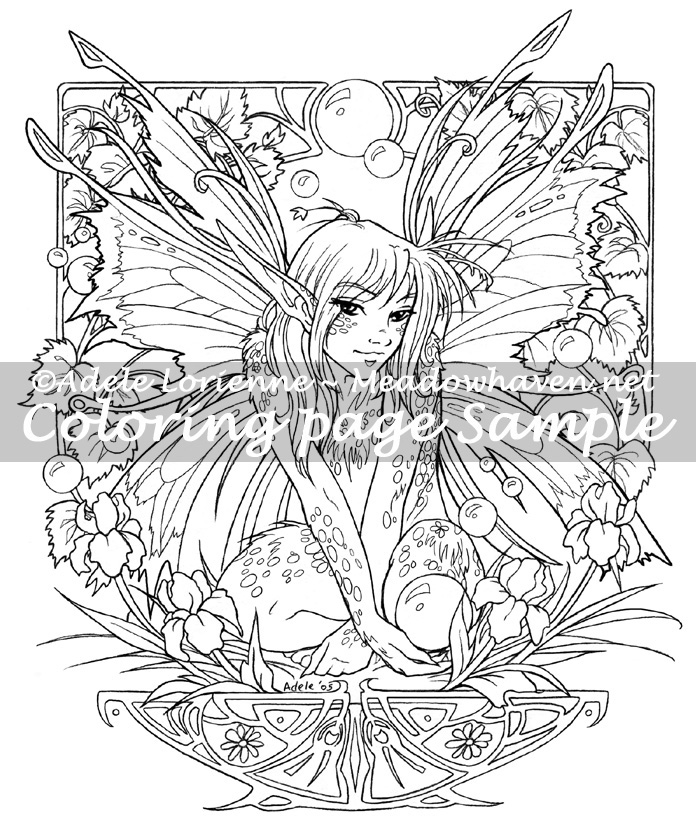 696x832 Art Of Meadowhaven Coloring Page Fairy Bubbles