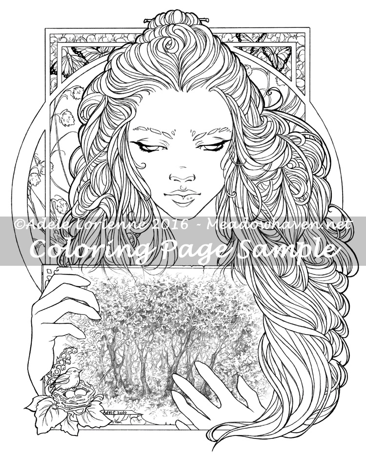 750x933 Art Of Meadowhaven Coloring Page Timeless
