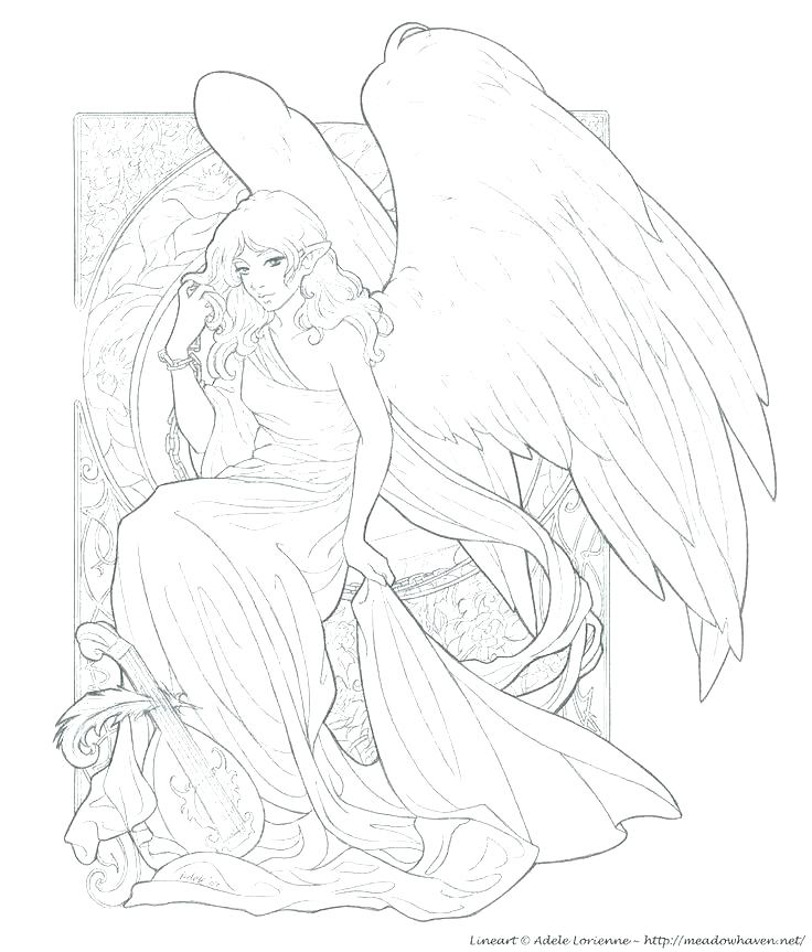 736x863 Coloring Pages Angels Guardian Angel Coloring Pages Angels