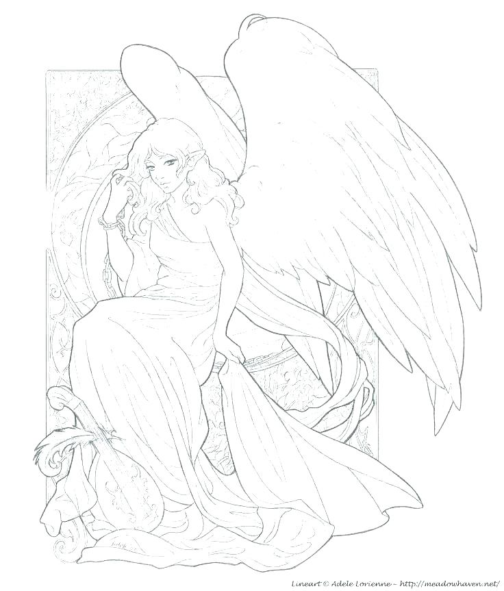 736x863 Guardian Angel Coloring Pages Page Z Colouring Kids Clip