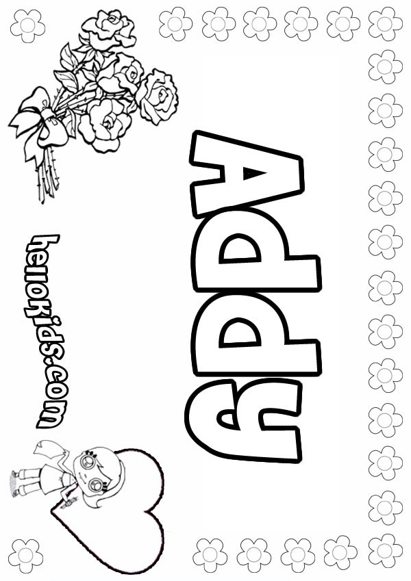600x849 Addy Coloring Pages