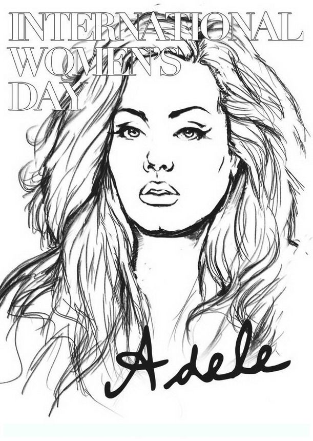 611x860 Adele Coloring Pages Color Bros
