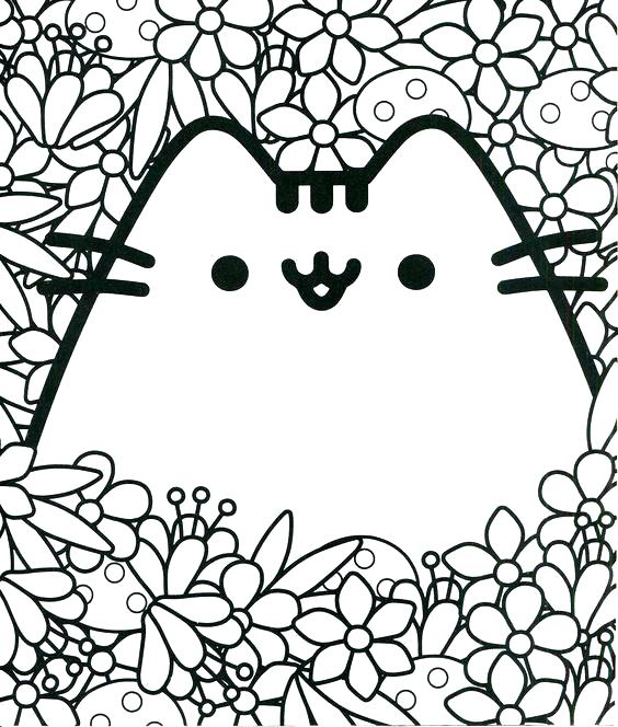 564x664 Coloring Pages For Pusheen The Cat Together With Coloring Pages