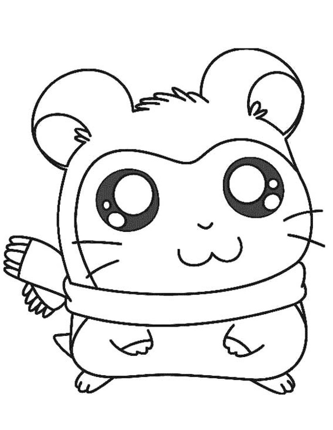 1072x1383 Hamtaro Coloring Pages Adorable Pashmina Cartoon