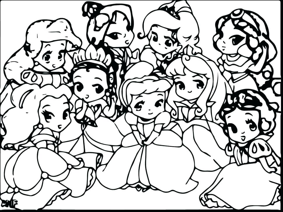 970x725 Adorable Coloring Pages For Girls Disney Princess