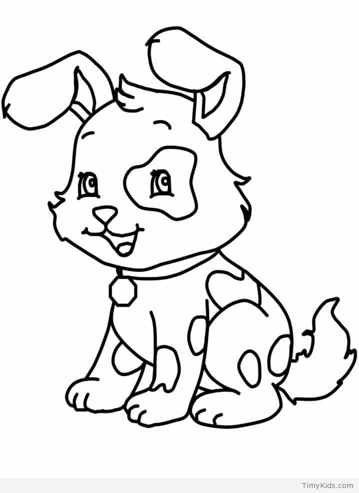 Adorable Puppy Coloring Pages