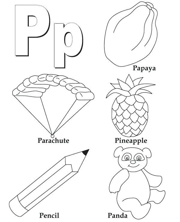 600x737 Alphabet Coloring Pages P For Alphabet Coloring Pages Alphabet