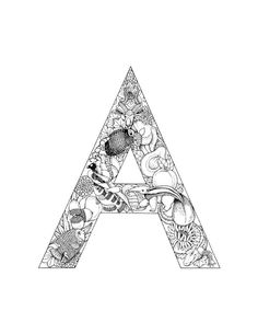236x305 Detailed Coloring Pages For Adults Alphabet Coloring Pages