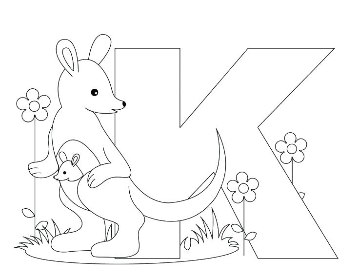 736x572 Letter Coloring Pages For Adults And Letter K Coloring Pages