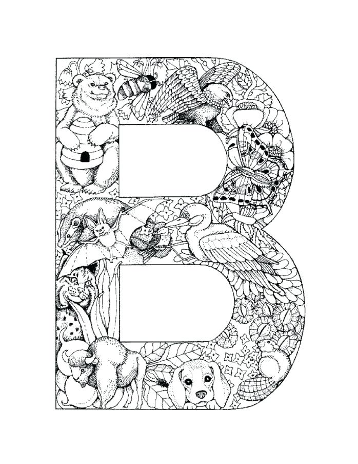 698x903 Letter Coloring Pages For Adults As Well As Alphabet Coloring