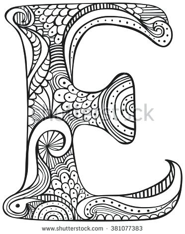 372x470 Letter Coloring Pages For Adults Plus Image Result For Free