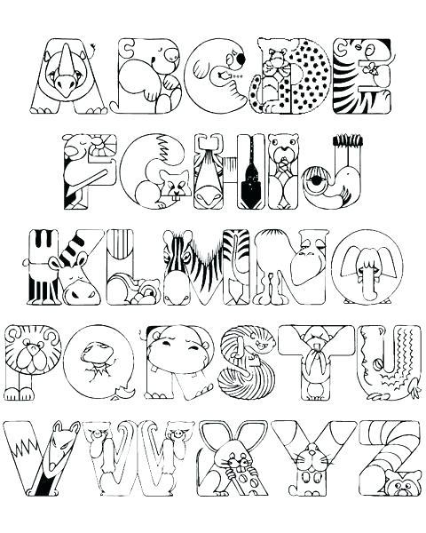 480x600 Alphabet Coloring Pages A Z Alphabet Coloring Pages Coloring Pages
