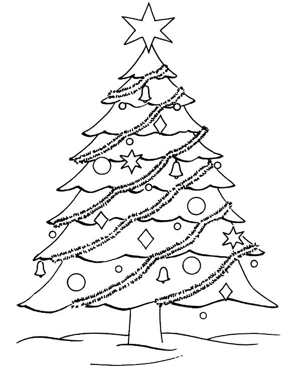 590x776 Christmas Tree Coloring Page Christmas Tree Coloring Pages