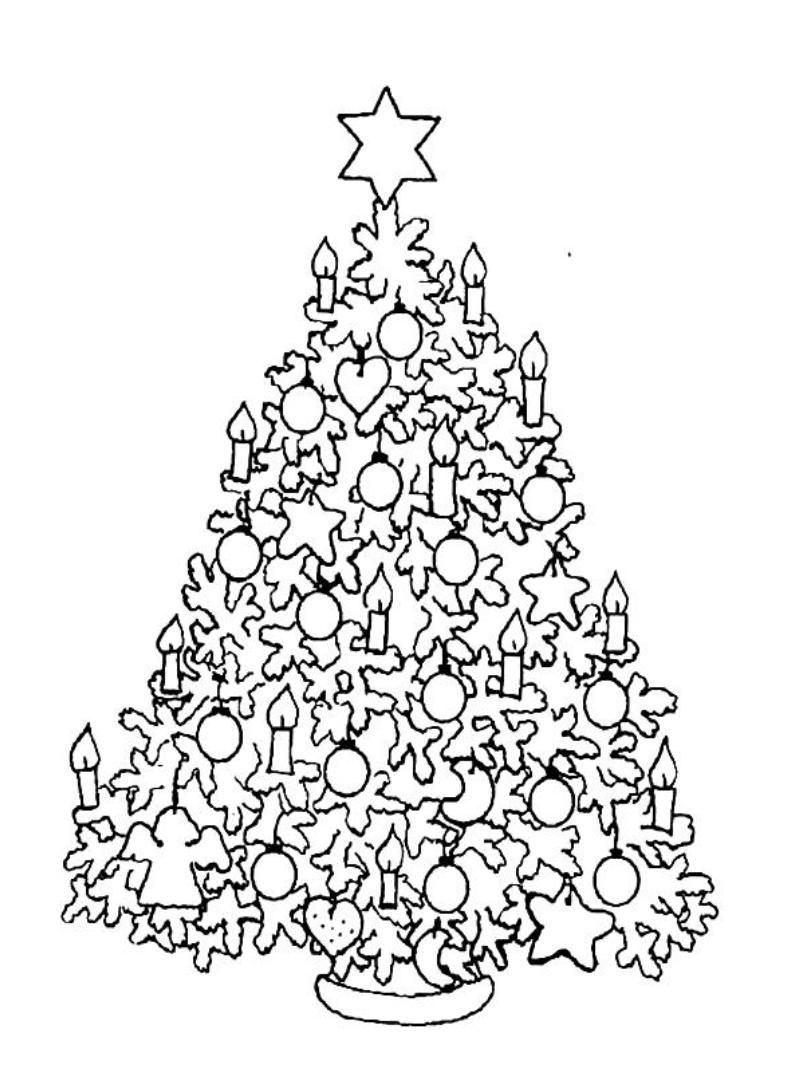 788x1072 Christmas Tree Coloring Pages For Adults