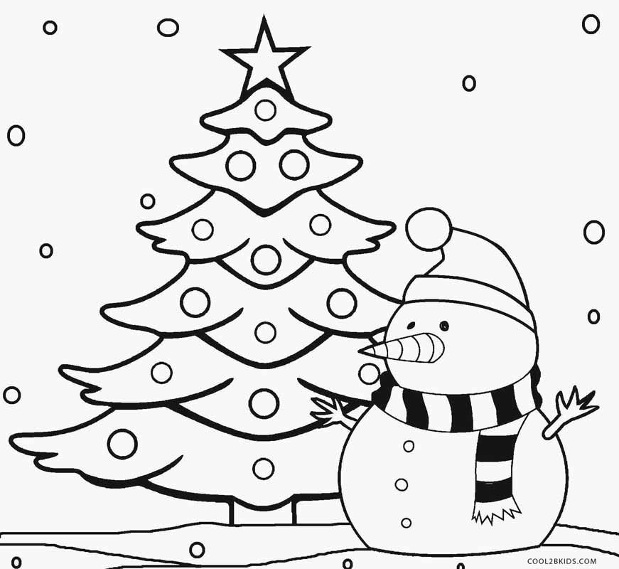 871x800 Christmas Tree Coloring Pages For Preschoolers