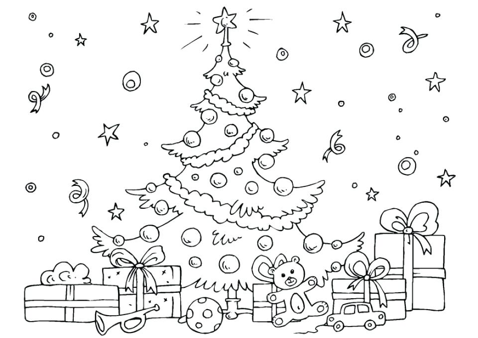960x680 Christmas Tree Coloring Pages Tree Coloring Pages Christmas Tree
