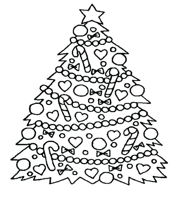 600x672 Christmas Tree Coloring Pages Tree Coloring Pages For Kids Free