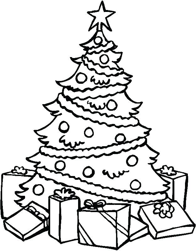 625x800 Christmas Tree Coloring Pages Tree Coloring Sheet Tree