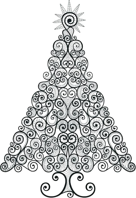 564x820 Christmas Tree Coloring Pictures S S Christmas Tree Coloring Page