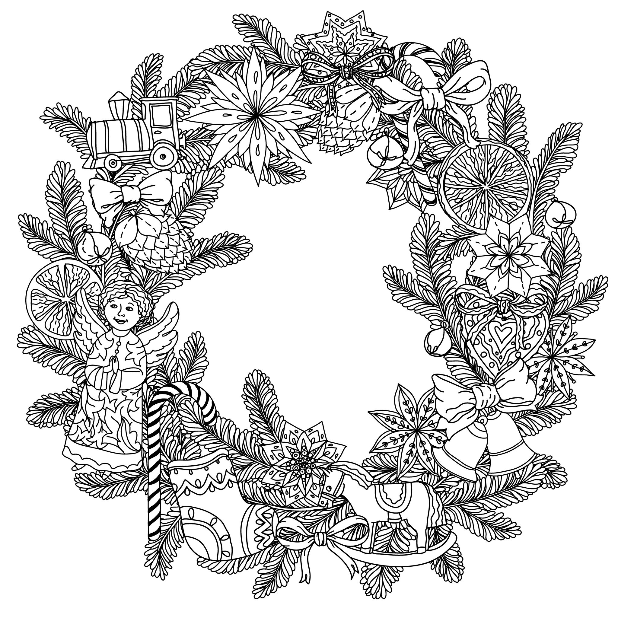 2048x2048 Free Christmas Tree Coloring Pages Inspiring Coloring Page
